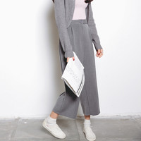 Casual Pants Korean Simple Design High Waist Cropped Pants [6466228356]