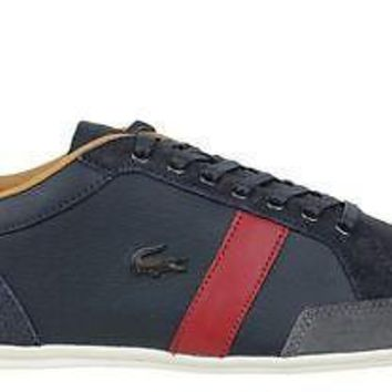 Lacoste Mens Shoes Alisos 20 SRM Dark Blue Leather
