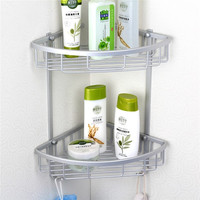 Lowest Price Triangular Aluminium Hanging Triangular Bathroom Shower Accessories Corner Storage Shelf Rack Holder Basket