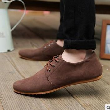 New Arrive Europe Style Suede Men Casual Shoes, Popular Fashion Sneakers