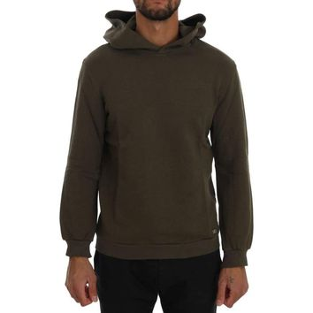 Green Pullover Hodded Cotton Sweater