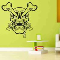 Skull Version 111 Bones Wall Vinyl Decal Sticker Art Graphic Sticker Skulls