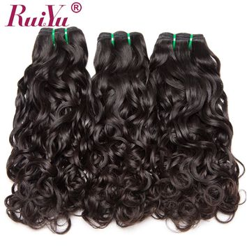 RUIYU 100% Human Hair Bundles Water Wave Brazilian Hair Weave Bundles Non Remy Hair Extensions 1PC/Lot Can Buy 3 / 4 / 5 Bundles