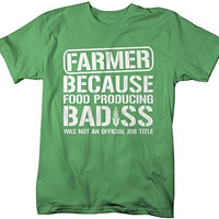 Shirts By Sarah Men's Funny Farmer T-Shirt Food Producing Bad*ss Shirt