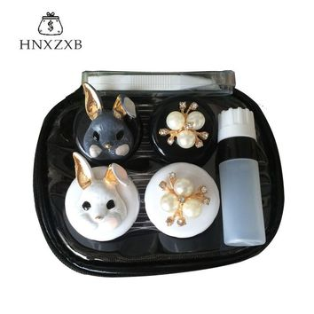 HNXZXB  New  Women Contact Lenses Storage Box Cartoon Contact lens Box Eyes Care Kit  Holder Travel Washer Cleaner Container