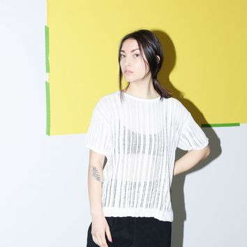Sheer Knit Short Sleeve / S M L