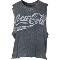 Chaser La Coke Vintage Black Top In Destroyed Look
