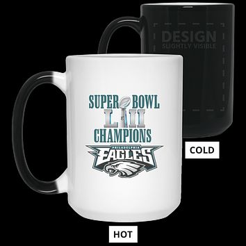 Super Bowl 52 Champions Philadelphia Eagles v2 21550 15 oz. Color Changing Mug