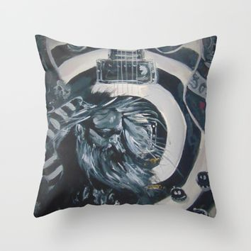 Black Label Throw Pillow by Tony Silveira