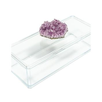 Acrylic Box with Amethyst