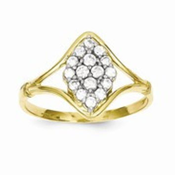 10k Yellow Gold CZ Ring