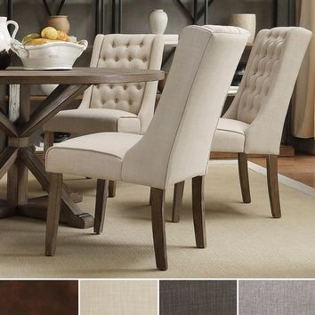 INSPIRE Q Evelyn Tufted Wingback Hostess Chairs (Set of 2) | Overstock.com Shopping - The Best Deals on Dining Chairs