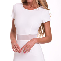 PLEASE ME NOW BODYCON DRESS IN WHITE