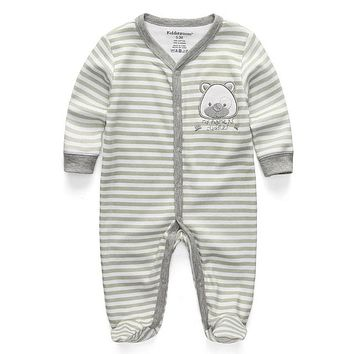 Baby's Long-Sleeve Onesuit w/Pattern