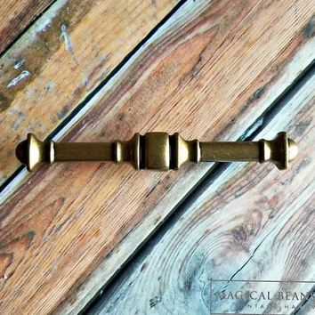 Gold Drawer Pulls Handles Vintage Drawer Pulls Brass Drawer Pulls Mid Century Modern Marked Cabinet Pulls Traditional Dresser Hardware