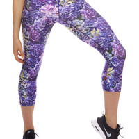 Womens Hydrangea Performance Capri Leggings