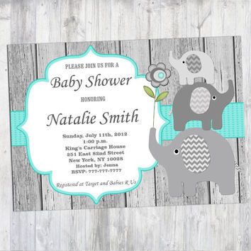 best baby girl elephant baby shower invites products on wanelo, Baby shower invitations