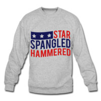 Star Spangled Hammered, July 4th Unisex Sweatshirt