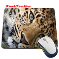 Leopard Big Cat Mouse Pads Anti-Slip Rectangle Mouse Pad