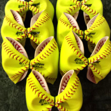 Bulk Softball Bow Forms (Softball Covers / Softball Skins) - Great for Crafters or to use for Softball Theme'd Party