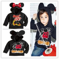 Cartoon  Mouse Kids Toddlers Boys Girls Long Sleeve Hoodies Coats Aged 1-6 Years