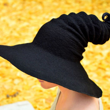Wide Brim Witch Hat. Wizard Hat. Fantasy Hat. Cosplay Hat. LARP.