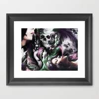 Sin and smoke, the art of a borderline.  Framed Art Print by Kristy Patterson Design