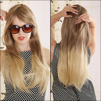Blonde Ombre Wig Long Straight