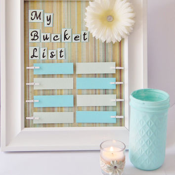 Graduation Gift - Bucket List - Bucket List Decor