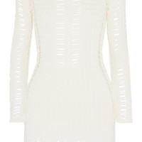 Balmain - Crocheted cotton mini dress