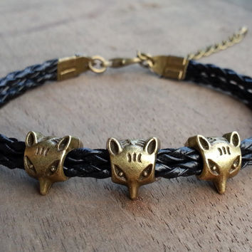 Charm Bracelet 121: Fox Bracelet, Personalized Charm Jewelry Friendship Gift