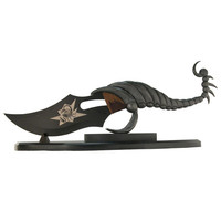 FANTASY SCORPION BOWIE KNIFE WITH DISPLAY STAND