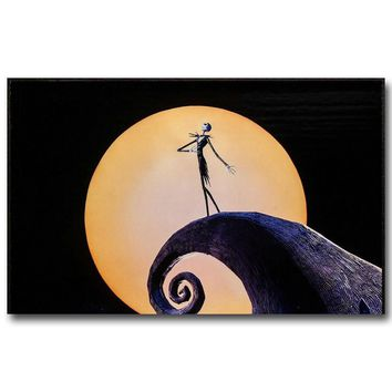 NICOLESHENTING The Nightmare Before Christmas Art Silk Poster Print 13x24 24x43inch Cartoon Movie Picture Home Decor 032