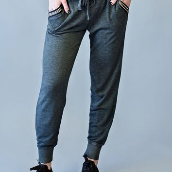 Angela  Charcoal Jogger : Grey