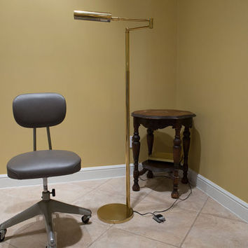 OMI Koch & Lowy Brass Articulating Swing Arm Floor Lamp