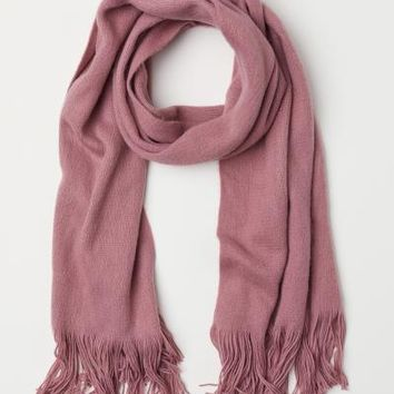 Scarf - Dark powder pink - Ladies | H&M US