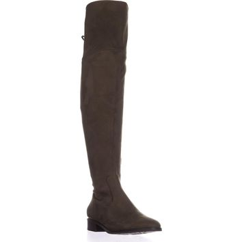 Ivanke Trump Lnde Over The Knee Lace Up Boots, Dark Green, 9 US