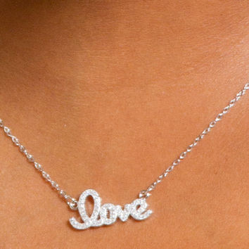 Love Sterling Silver Necklace