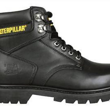 "Caterpillar Mens 6"" Work Boots 2nd Shift P70043 Black Leather"