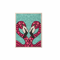 "Art Love Passion ""Pink Flamingos"" Blue Magenta KESS Naturals Canvas (Frame not Included)"