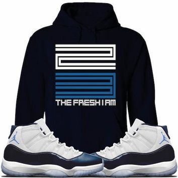 Jordan Retro 11 Win Like 82 Midnight Sneaker Hoodie - 23