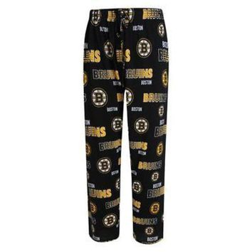 MDIGOK8 Men's Sweep Knit Boston Bruins Pajama Pants