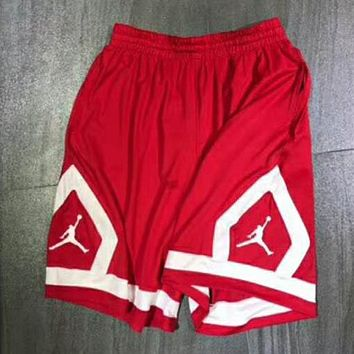 Nike Air Jordan AJ Men's Basketball Pants Sports Shorts F-XMCP-YC red