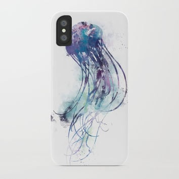 Jellyfish iPhone Case by monnprint