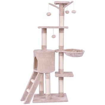 Condo Scratching Posts Ladder Cat Play Tree 56""