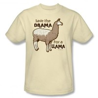 Save The Drama For A Llama Funny T-Shirt Tee