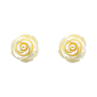 Ivory Rose Post Earrings