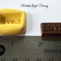 Love Piece of Chocolate,Kawaii Silicone Mold,Flat Back,Jewelry Molds,Crafting Mold,Polymer Clay Mold,Resin Molds,Wax Mold,Kawaii Mold