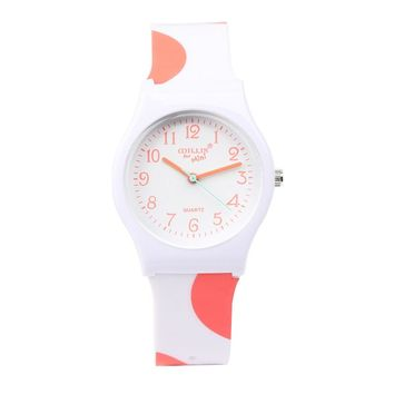 Fashion Simple Popular Cute Boys Girls Students Waterproof Jelly Watch Gift Hot High Quality Children Silicone  Watch