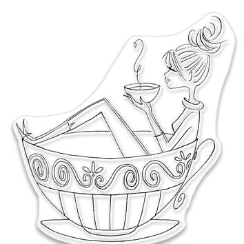 Penny Black Clear Stamps-Cup Of Java